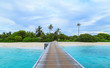 The charming scenery of maldives