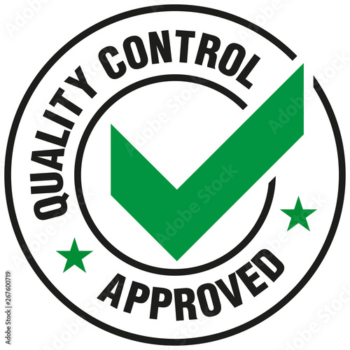 Fotomural Quality Control Approved icon - Vector