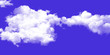 Leinwandbild Motiv The vast blue sky and clouds sky background
