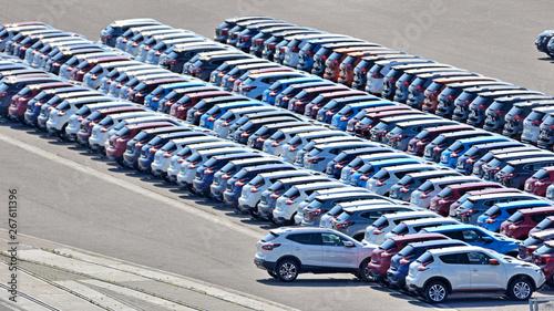 New cars. - fototapety na wymiar