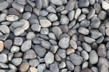 Background Pattern Of Round Pebble Stone.