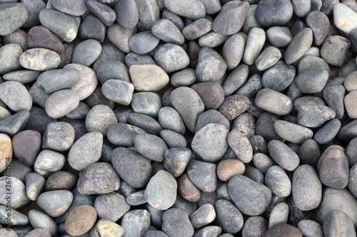 Photo  Background pattern of round pebble stone.