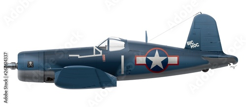 Cuadros en Lienzo F4U-4-1A Vought Corsair - VF-17 Jolly Rogers - Big Hog 1943
