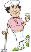 Cartoon Illustration Of A Golf...