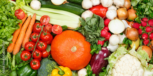 Vegetables collection food background banner tomatoes carrots potatoes fresh vegetable