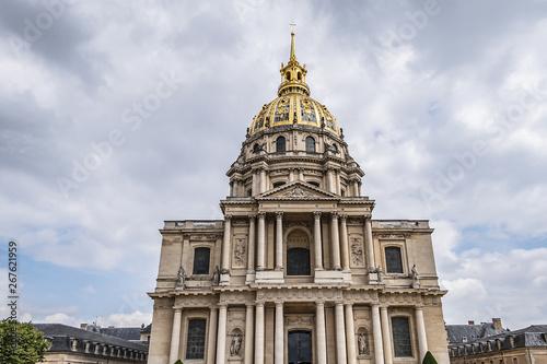 Fragments of Paris Saint Louis Chapel des Invalides. Saint Louis Chapel built in 1679 is the burial site for some of France's war heroes, notably Napoleon Bonapart. Paris. France.