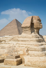 The Great Sphinx And Pyramid, Giza Near Cairo, Egypt