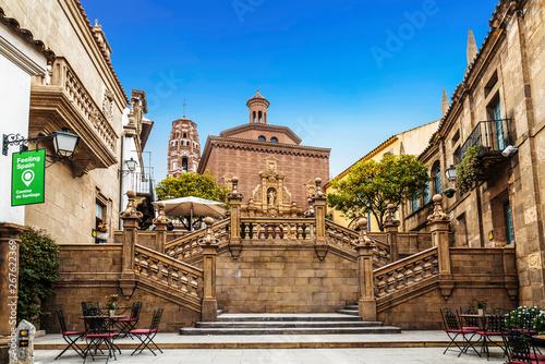 W Barcelona-muzeum pod gołym niebem. Katalonia, Hiszpania