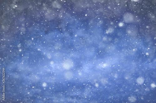 Fototapeta sky snow background clouds / abstract background gray winter sky, weather snowfall obraz na płótnie