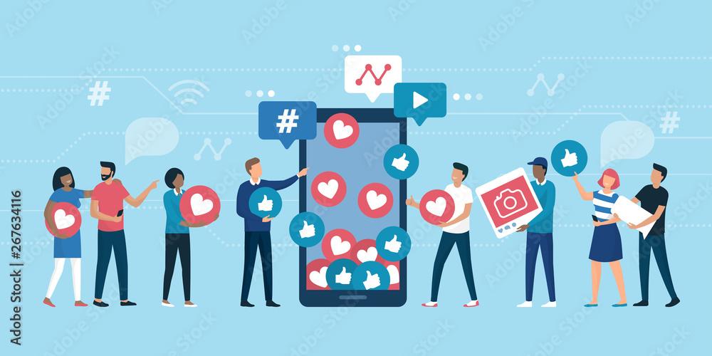 Fototapeta Increase your social media followers