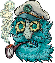 Old Captain With A Pipe And Eyes Like A Ship's Windows