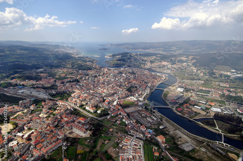 aerial image of the region of Pontevedra, Galicia