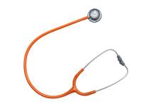 Isolated Stethoscope  On White...