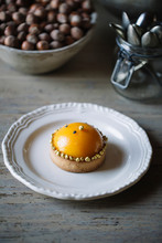 Decorated Tartlet With Peach H...