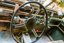 Steering Wheel Of A Old Rusty ...