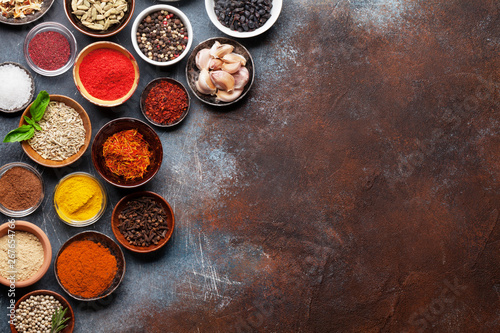 Tela Set of various spices and herbs