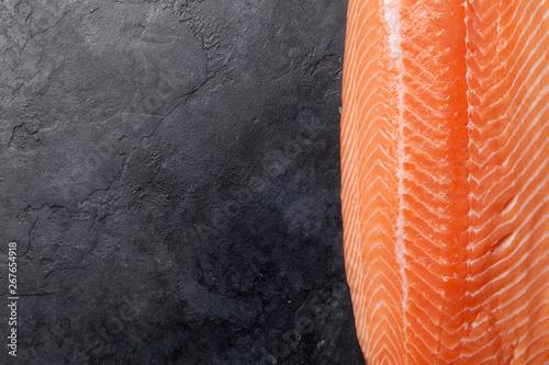 Fotografia  Raw salmon fish fillet