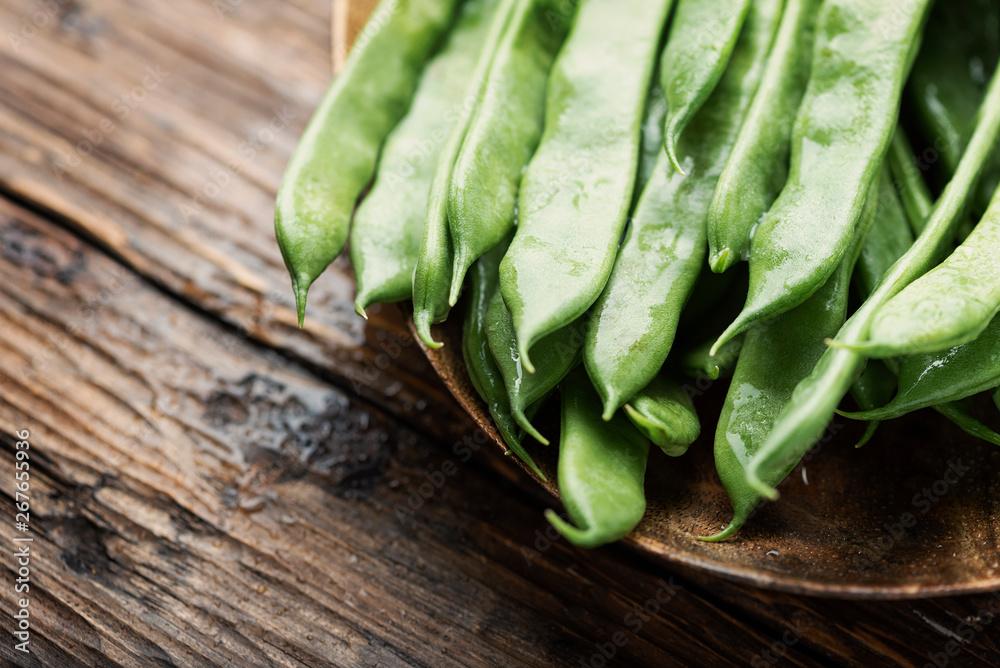 Fototapety, obrazy: Raw fresh green beans
