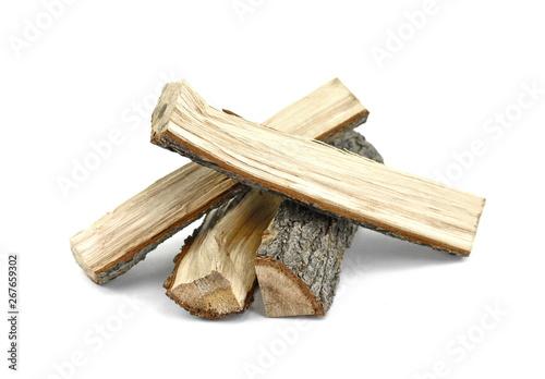 Fotografia Firewood isolated on white