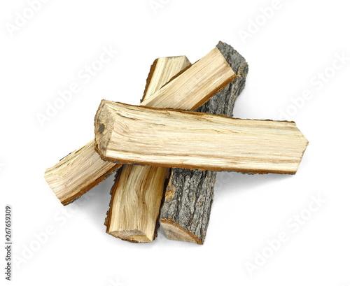 Obraz na płótnie Firewood isolated on white