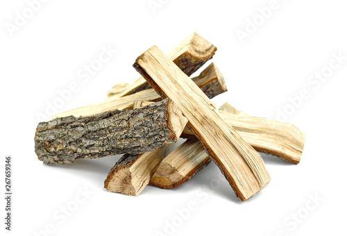 Firewood isolated on white Fototapeta