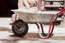 Red Garden Construction Cart