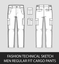 Fashion Technical Sketch Men R...