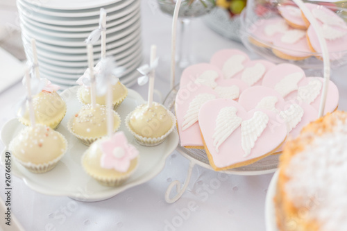 Canvas Sweet table at Christening or First Communion party