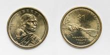 Sacagawea One Dollar Coin. Wampanoag Treaty.
