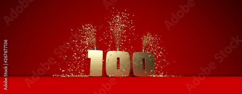 Fotografia célébration des 100 ! anniversaire, followers etc...