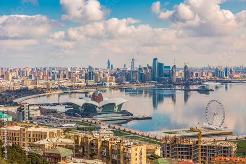 Photo Panoramic view of Baku city, capital of Azerbaijan