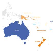 Australia And Oceania Region. ...