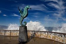 The Boy On A Seahorse Sculptur...