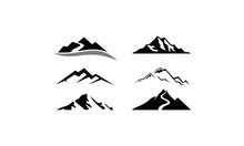 Mountain Peak Logo Set