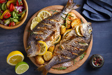 Roasted Fish And Potatoes, Ser...