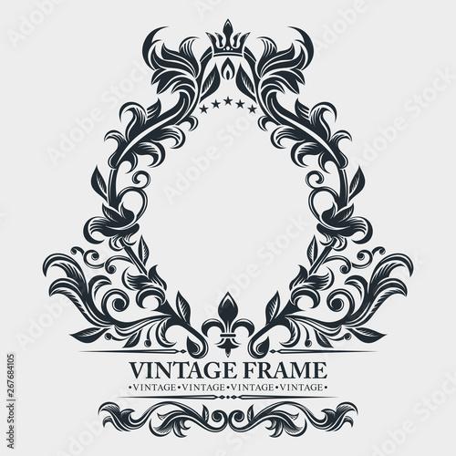 Vector Monogram. Elegant Emblem Logo. Vintage Baroque