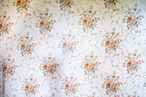 Fotografia  Patterned wallpaper from the 1970s/1980s