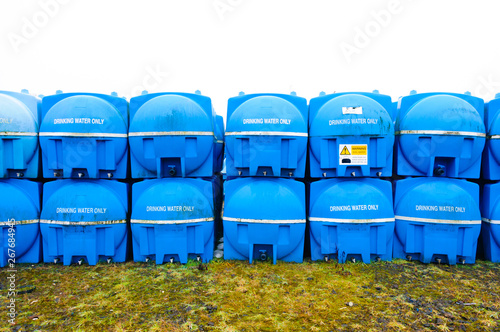 Emergency drinking water storage tanks in storage - Buy this