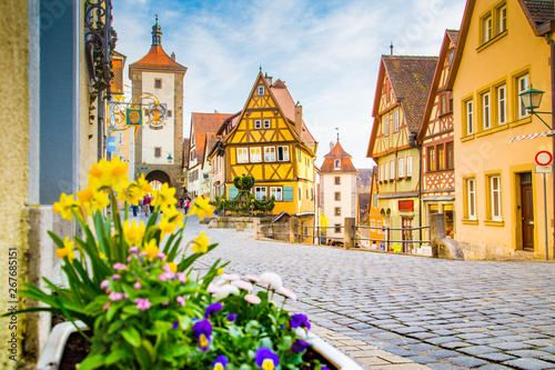 Valokuva Medieval town of Rothenburg ob der Tauber in summer, Bavaria, Germany