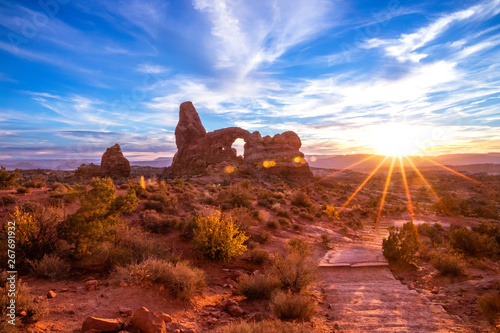 Canvas Print Arches National Park
