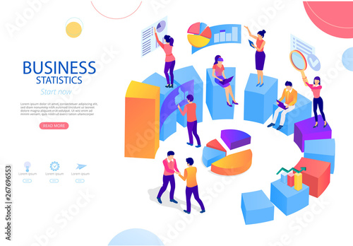 Business statistics, financial indicators and online analysis service Wallpaper Mural