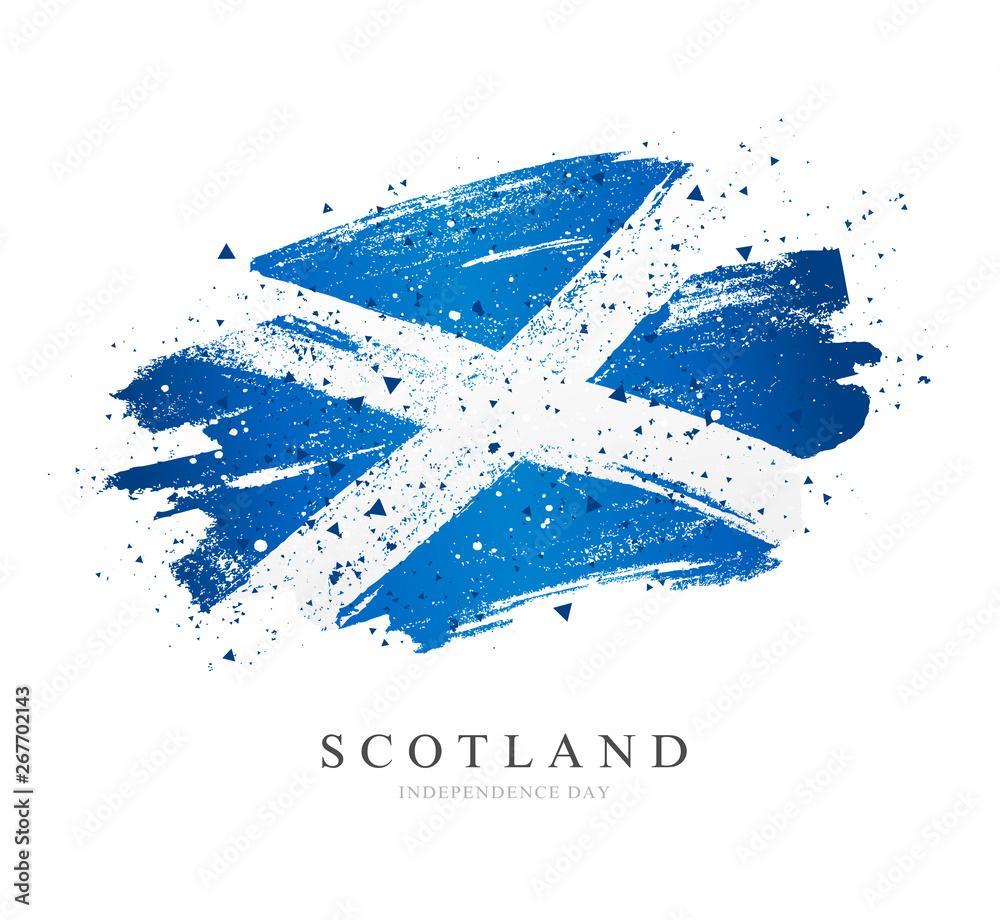 Fototapeta Flag of Scotland. Vector illustration on white background.