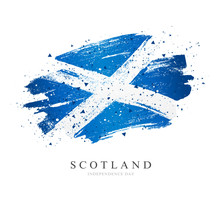 Flag Of Scotland. Vector Illus...