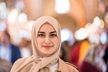 Portrait Of Beautiful Muslim W...