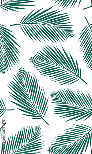 fototapeta na drzwi i meble Seamless pattern with palms leaf