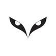 cool bird eyes symbol vector