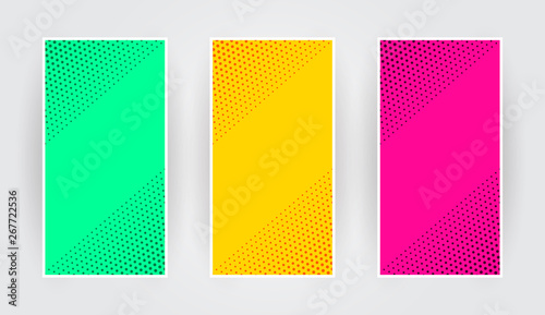 Foto auf Gartenposter Künstlich Stylish colorfull of halftone banner templates for business cover. Vector illustration