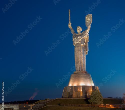 Photo Stands Kiev The Motherland Monument in Kiev, Ukraine