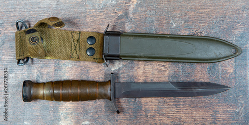 Obraz na plátně Trench Knife was a WW11 American military combat knife