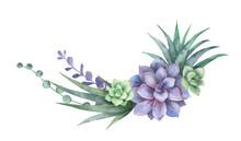 Watercolor Vector Wreath Of Ca...